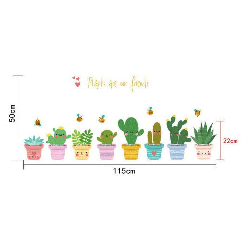 Amazon.com: Nufelans Colorido dibujos animados plantas línea ...
