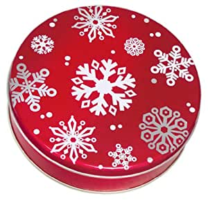 Scott's Cakes Large Empty Red with Snowflakes Tin