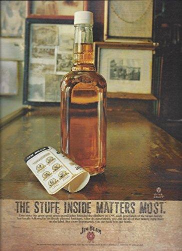 MAGAZINE AD For Jim Beam 2005 Stuff Inside Matters Most No Label (Jim Beam Bottle)