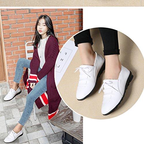 Warm Mordenmiss Top Velvet Cotton Womens Low Flat Moccasins Winter Snow Sneaker White qzqrF0