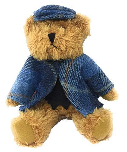 - Harris Tweed Blue Tartan Dressed Scruffy Boy Bear