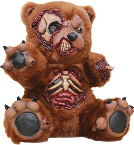 Bad Teddy Zombie Halloween Latex & Fur Party Prop Accessory