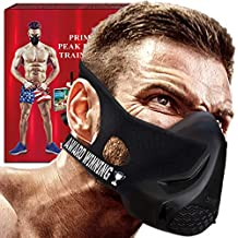 Training Fitness Mask- Workout Mask - High Altitude Elevation Simulation- Peak Resistance - Peak Performance -For Running- Endurance Exercise-Cardio-Jogging- Gym –MMA- HIIT– Free Gift Speed Jump Rope