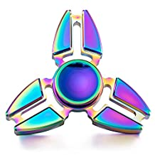 Beautymei 2017 Alloy Metal Hand Spinner Fidget Toys Stress Relieve (C Rainbow)