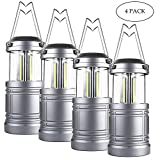 Taclight Lantern COB LED, Collapsible LED Camping Lantern with Magnetic Base (Pack of 4)