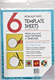 quilters template plastic - Collins COL198 6 Count Non Slip Vinyl Template Sheet, 8.5 x 11