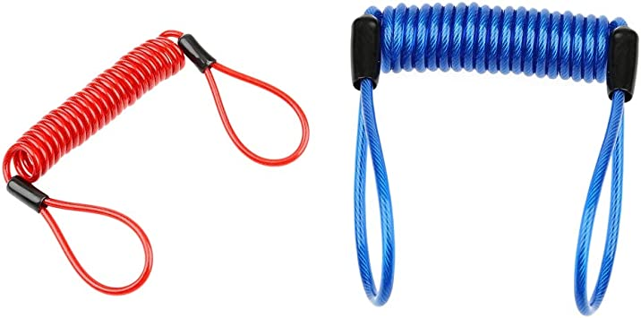 Motorbike Cable Lock Rope Bike Spring Security Disc Lock Wire Anti-Theft Rope