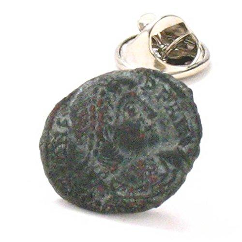 Roman Coin Tie Tack Lapel Pin Rome Emperor Empire Jewelry Legionary Soldier Military Colosseum Ancient by Marcos Villa