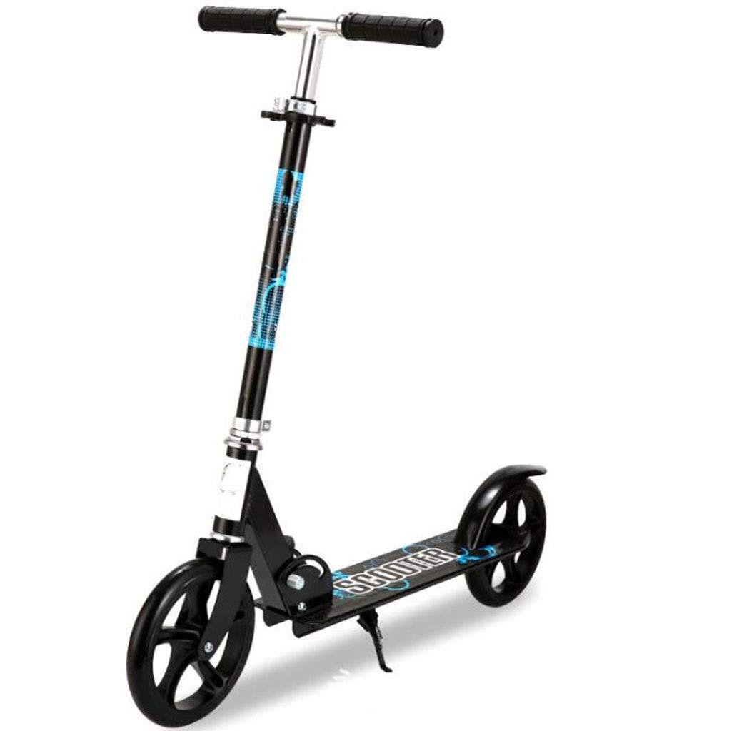 大人のペダルスクーター第二ラウンド青春ショックスクーター折りたたみスクーター丈夫なアルミスクーターサポート100キログラム 黒