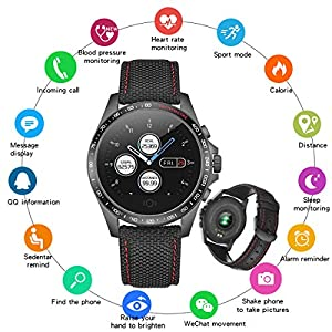 Smart Watch Touchscreen Fitness Tracker Heart Rate Blood Pressure Smartwatch Pedometer Sleep Monitor Step Calorie Message Reminder Bluetooth Watch