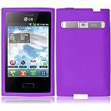 For LG Optimus Zone VS410 VS410PP Silicone Jelly Skin Cover Case Dark Purple