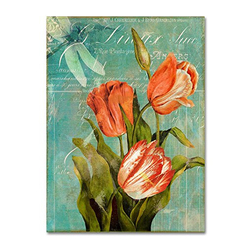 Fine Art Tulips Ablaze III by Color Bakery floral Canvas Wall Art