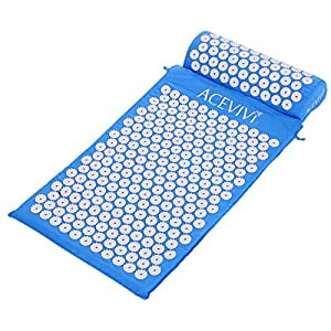 Amazon.com: ACEVIVI Acupressure Mat and Pillow Set, Bed of ...