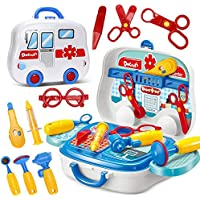 XuBa Children Doctor Set Game Mini Medical Tool Kit Box Pretend Play Funny Classic Toy for Kid Doctor Gift Doctor Set