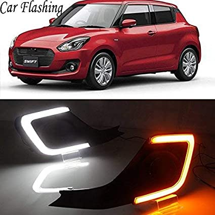 Automaze Car Fog Lamp Daytime Time Running Lights Drl For Swift