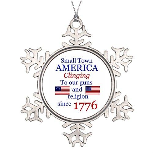 Xmas Trees Decorated Small Town Proud Making Christmas Snowflake Ornaments Palin