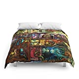 Society6 The Fantastic Voyage - A Steampunk Book Shelf Comforters Full: 79'' x 79''