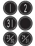 Teacher Created Resources Calendar Days, Black/White Crazy Circles (4878) by Teacher Created Resources
