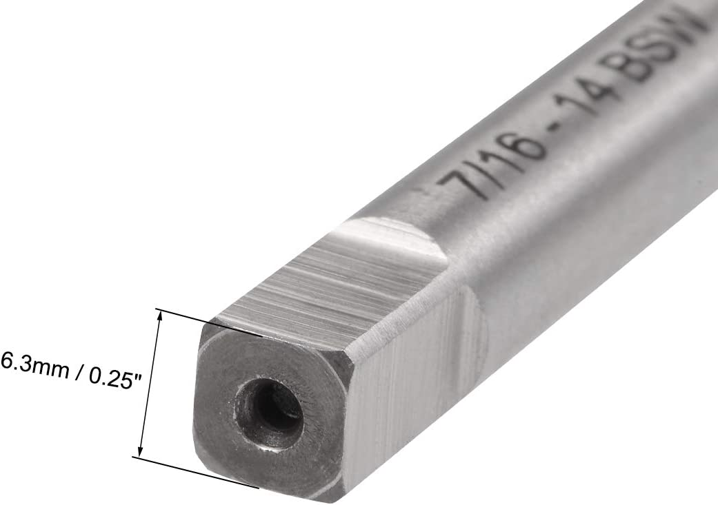 uxcell Machine Tap 5//18-11 BSW Thread Pitch 4 Straight Flute H2 High Speed Steel