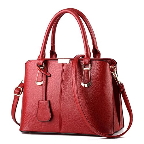 Ryse Womens Fashionable Classic Retro Elegance Temperament Handbag Shoulder Bag(Red)