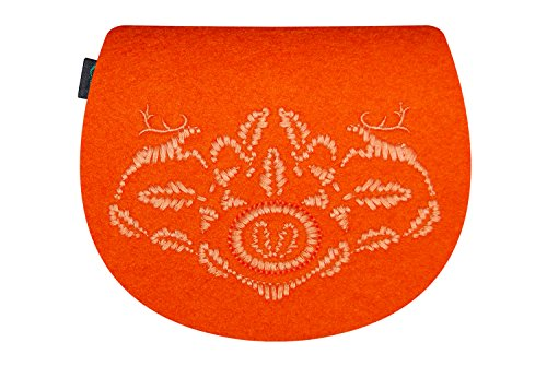 KringsFashion® - Bolso cruzados de Fieltro para mujer Naranja - naranja