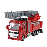 Demiawaking Child Car Toy Gift City Fire Ladder Truck Toys Fire Brigade,Great New Year Gift for Toddle