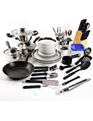 Essential Home Total Kitchen Cookware, Utensil 83 Pc Combo Set