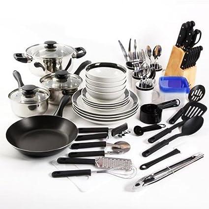 Amazon Com Essential Home Total Kitchen Cookware Utensil 83 Pc