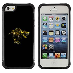 CAZZ Rugged Armor Slim Protection Case Cover Shell // Steam punk Monster // Apple Iphone 5 / 5S