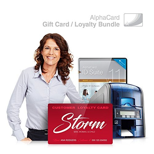 Gift Card & Loyalty Card Printer System for Membership Programs for Your Business: AlphaCard Printer, Gift & Loyalty Card Design Software, ID Supplies