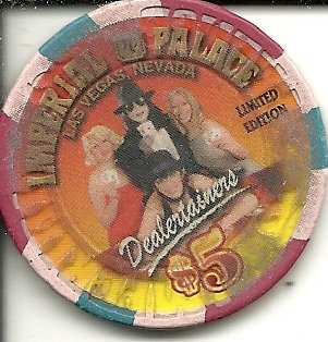 $5 imperial palace dealertainers casino chip las