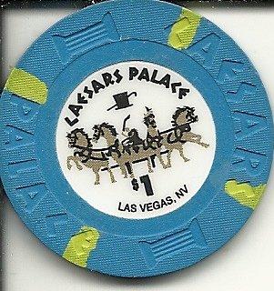 $1 caesars palace las vegas casino chip small - Chip Caesars Palace