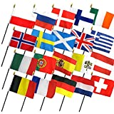 Set of 20 4×6 Inch European Flags Review