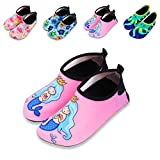 Kids Water Shoes Quick Drying Beach Aqua Shoes for Boy Girl Toddler Sporting Swimming Outdoor Activities (11-11.5 M US Little Kid, Pink-Mermaid)