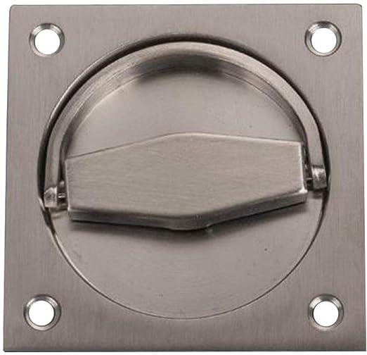 Tirador de puerta, anillo cuadrado profundo del acero inoxidable, mango roto, manija de puerta corredera invisible,