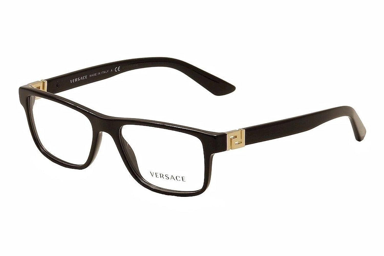Frame glasses versace - Amazon Com Men Versace Eyeglasses Ve3211 Gb1 Black Frame 55 145 Clothing