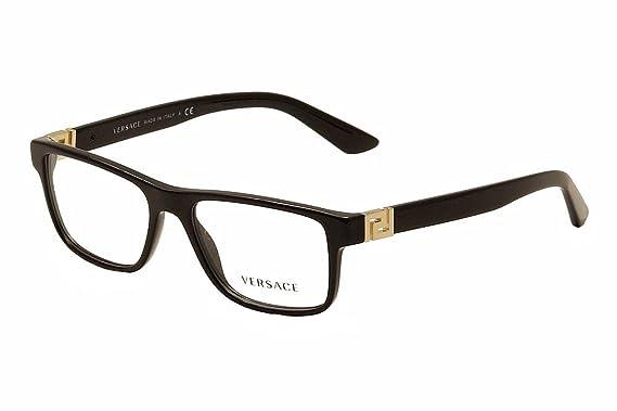 men versace eyeglasses ve3211 gb1 black frame 55 145