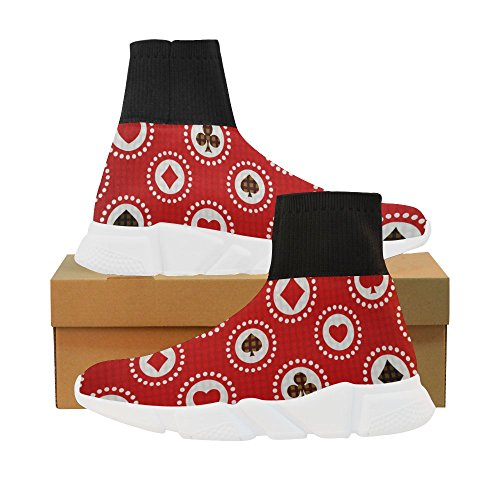 LEINTEREST card suits Unicorn Stretch Sock Shoes for Women VLnJW