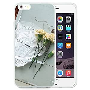 New Beautiful Custom Designed Cover Case For iPhone 6 Plus 5.5 Inch With Thanks Mom Carnation Flower Pure Thanksgiving (2) Phone Case