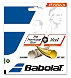 Babolat Pro Hurricane Tour + Xcel Hybrid (Poly/Multifilament Combo) Tennis Racquet String Sets – in Multi-Packs – Best for Comfort, Control, and Durability (2-4-6-8-Packs)