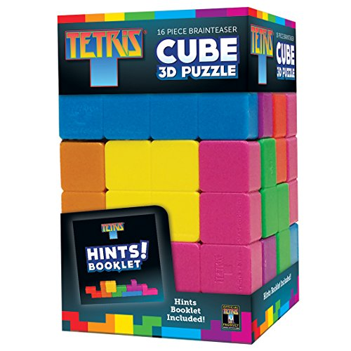 MasterPieces Tetris Brainteaser Cube 3D Puzzle, 16-Piece (Brain Games Puzzles)