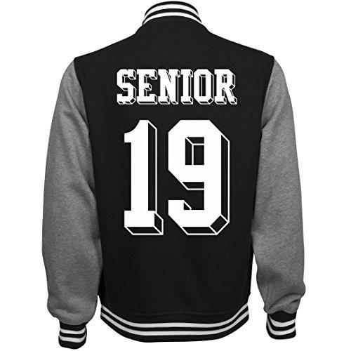 Customized Girl 2019 Senior Pride: Unisex Fleece Letterman Varsity Jacket for $<!--$53.97-->