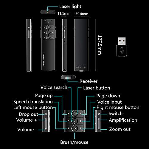 XMDFY 2019 Upgrade Portable Smart Multi-Language Synchronization Translator,Multifunction Wireless Presenter,PPT Controller Presentation Remote Control Pointer USB Mouse Clicker Flip Pen,Two by XMDFY (Image #7)