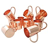 Set of 12 - Prisha India Craft Copper Mug for Moscow Mules 450 Ml / 15 Oz - 100% Pure Copper - Lacquered Finish - Solid Copper Best Quality Moscow Mule Mug, Cocktail Cup, Copper Mugs, Cocktail Mugs