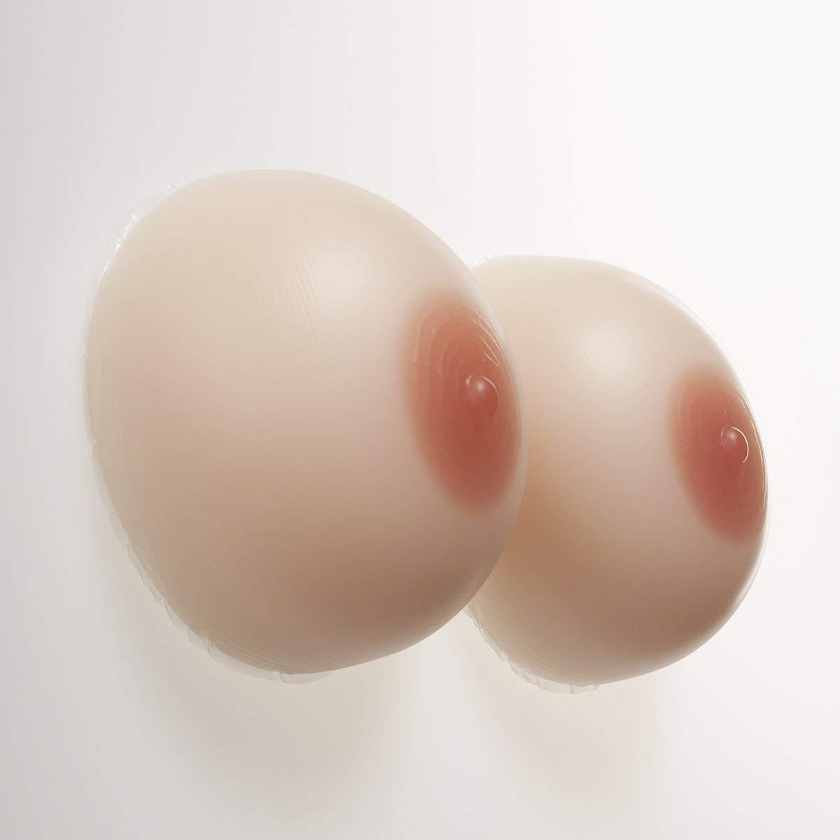QYJX Prótesis De Silicona De Mama Falsa De Cosplay, Mama De Silicona Autoadhesiva para Pacientes Con Mastectomía, Almohadilla De Silicona Falsa En El Pecho Ropa Desnaturalizada (1 Par),8XL