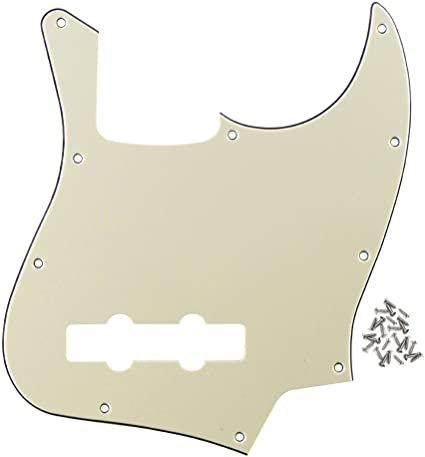 D/'Andrea 4-Ply 10-Hole Jazz Bass Pickguard Vintage Silver Sparkle
