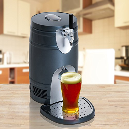 Festnight 5 Liter Mini Beer Kegerator, Cooler Dispenser Portable Black