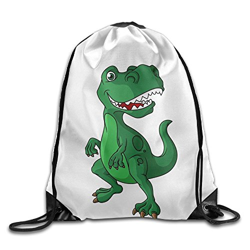 Beam Drawstring Storage Bag Travelling Tyrannosaurus Rex Bundle Canvas Gym Ball Backpack