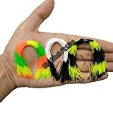 """Shaddock Fishing 6 Bundles 5.4"""" Silicone Skirts Lures Kit for DIY Spinnerbaits Buzzbaits Fishing Accessories Lures Replacement"""