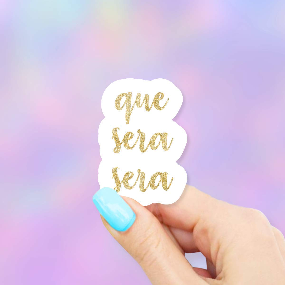 Que Sera Sera Sticker Water Bottles and Cell Phones for Laptops